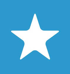 Star icon white on the blue background vector