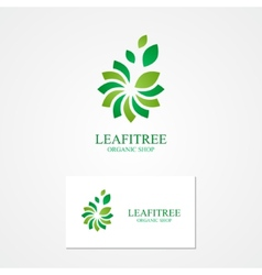 Combination of a flower and leaf with business vector