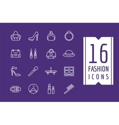 Fashion e-commerce icons set shopping vector