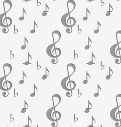 Perforated g clef and music notes vector
