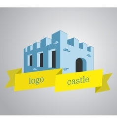 Logo castle vector