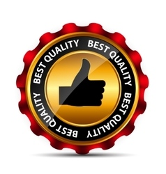 Best choice label with red ribbon vector