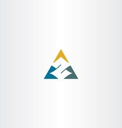 Letter z in triangle logo icon vector
