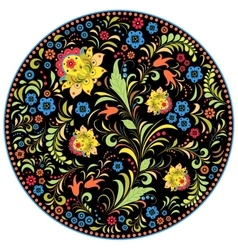 Floral traditional russian pattern vector
