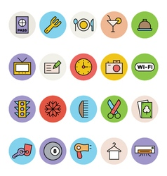 Hotel and restaurant icons 1 vector