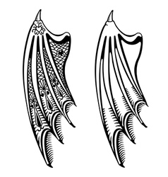 Devils wings set vector