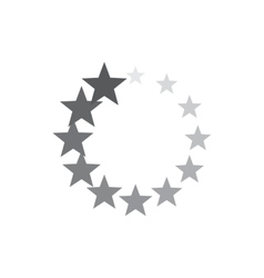 Abstract geometric circle of stars icon vector