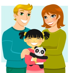 adoptive family vector image vector image