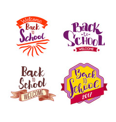 back to school tags vector image vector image