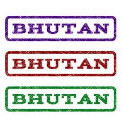 Bhutan watermark stamp vector