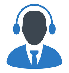 Call center agent flat icon vector