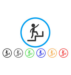 Child steps upstairs rounded icon vector