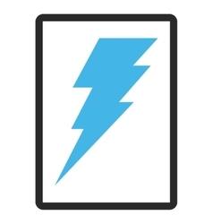 Execute framed icon vector