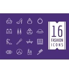 Fashion e-commerce icons set shopping vector