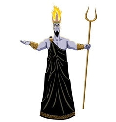 Hades on White vector image vector image