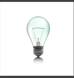 Incandescent lamp or bulb vector