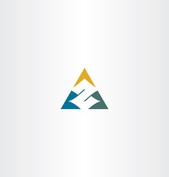 letter z in triangle logo icon vector image vector image