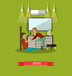 Maim concept in flat style vector