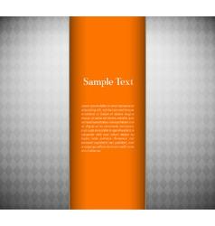 Metallic background with orange card vector image vector image