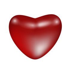 red shiny matte heart vector image vector image