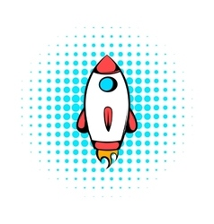 Rocket icon comics style vector image vector image
