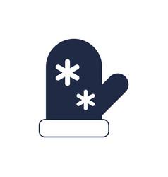Santa claus mitten isolated icon vector