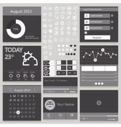 Set elements used for user interface black vector image