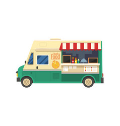 street food van vector image