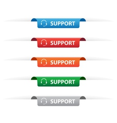 Support paper tag labels vector image