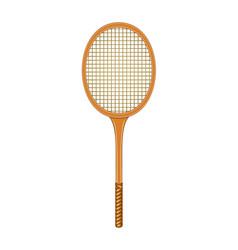tennis racket in vintage design vector image vector image