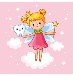 The little girl princess with a magic wand vector image vector image
