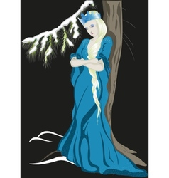 The snow queen with a crown eps10 vector