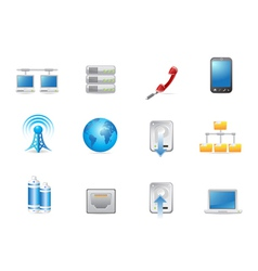 universal connected icon vector image