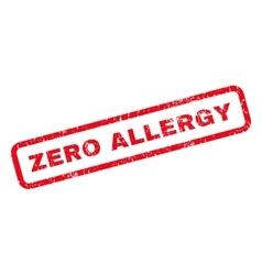 Zero allergy rubber stamp vector