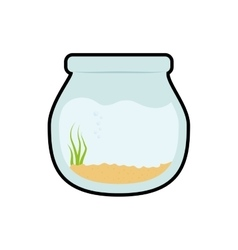 Bowl fish pet life marine aquatic swim icon vector