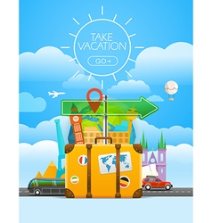 Vacation travelling concept travel with the vector