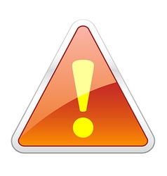 Hazard warning attention icon vector