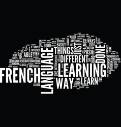 Learn french the hard way text background word vector