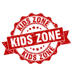Kids zone stamp sign seal vector