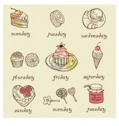sweet dessert vector image