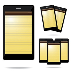 note phone vector image