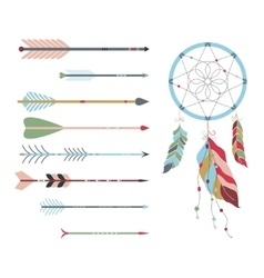 Arrow and dream catcher vector