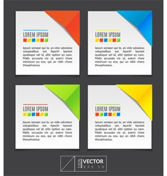 Paper sheets with colorful corners vector