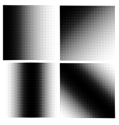 Set of 4 halftones vector