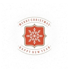 Merry christmas greeting card typography and vector