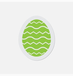 Simple green icon - easter egg vector