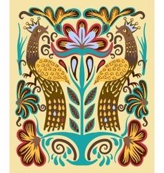 original ukrainian hand drawn ethnic decorative vector image
