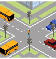 Traffic road controller vector