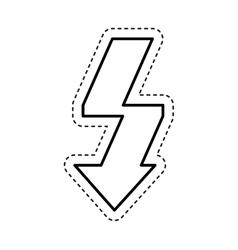 Arrow flash isolated icon vector