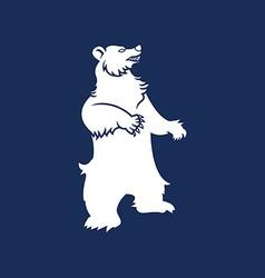 Bear mountain silhouette vector